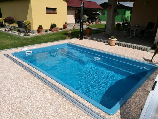 Fieberglas Pool-Set Smart 4,6m x 3,0m x 1,2m